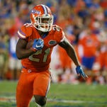 Florida running back Kelvin Taylor runs during a win over Ole Miss.