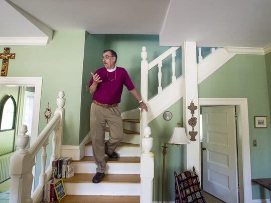 Episcopal Bishop Tom Ely gives a tour of his home at Rock Point in Burlington on Thursday, May 26, 2016. The property will be  featured during Preservation Burlington's Homes Tour on June fourth.