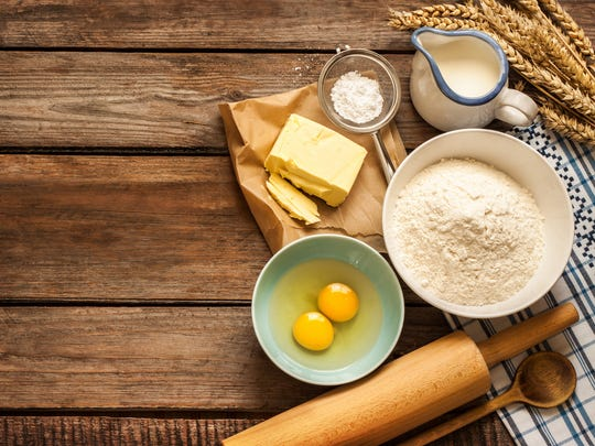 Bringing eggs and milk to room temperature will produce light, airy and evenly baked goods. Cold dairy products will make dense doughs, good for crusts.