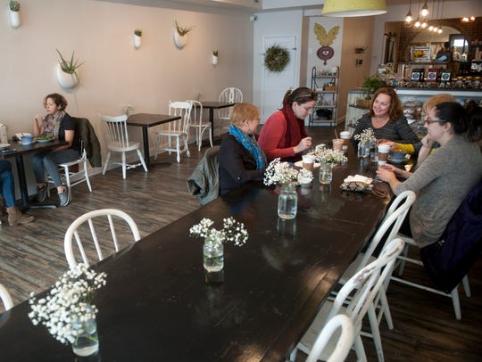 Interior of Heart Beet Kitchen in Westmont includes