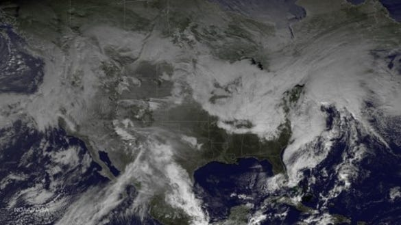 Our nor'easter and storms off the West Coast