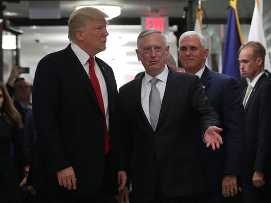 Secretary Of Defense Mattis Hosts Meeting With President Trump At The Pentagon