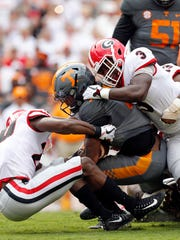 Georgia crunched Tennessee last week in a 41-0 rout.