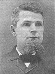 Portrait of beekeeper and seed expert A.E. Manum of