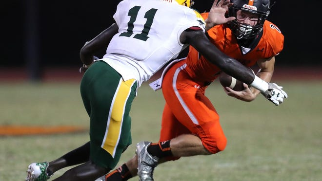 DeLand linebacker Timar Rogers (11) will consider offers from Auburn, Illinois, Kansas, Mississippi State, Missouri, North Carolina State and West Virginia.