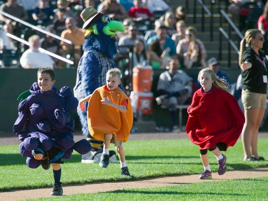 At every York Revolution home game, kids wearing fruit costumes race around the bases.