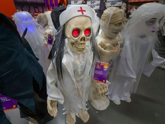 An evil nurse at Home Depot.