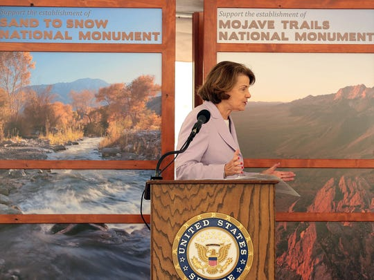 U.S. Sen. Dianne Feinstein speaks on Nov. 6, 2014 at the Whitewater Preserve, at an event to celebrate the 20th anniversary of the California Desert Protection Act.
