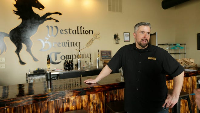 Erik Dorfner used his 40th birthday to announce that he would give away free beer at his Westallion Brewery on Dec. 23.