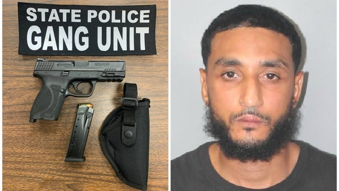 Jair Barros, 34, of Brockton, was arrested and charged with possessing a firearm without an FID and a violation of the COVID-19 restrictions on Sunday morning in Brockton on Aug. 23, 2020.