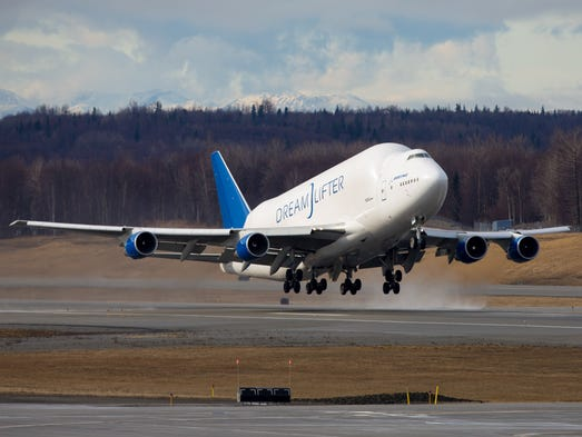 Boeing's unique Dreamlifter, a heavily modified 747,