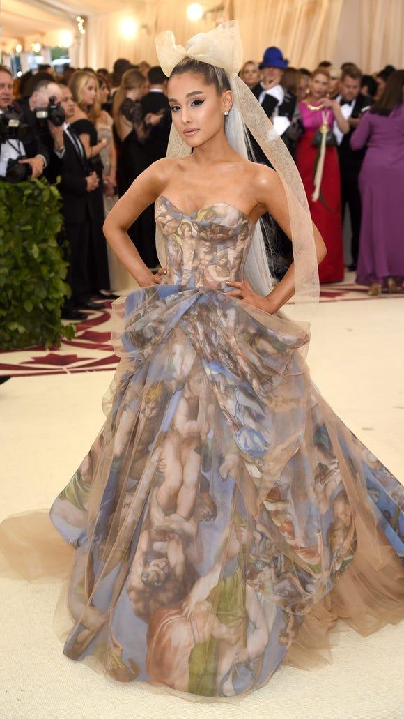 Grande's Vera Wang gown for the 2018 Met Gala.