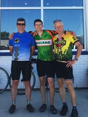 The Kealey family has three generations of bikers on the tour this year. From left: Dan, Steven and Patrick.