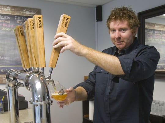 Michael Kane, owner of craft brewer Kane Brewing Co., in the tasting room of his Ocean Township brewery.