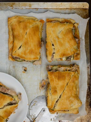 Baked Greek sandwiches