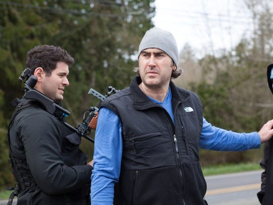 """Bobby Roe on location filming """"The Houses October Built"""