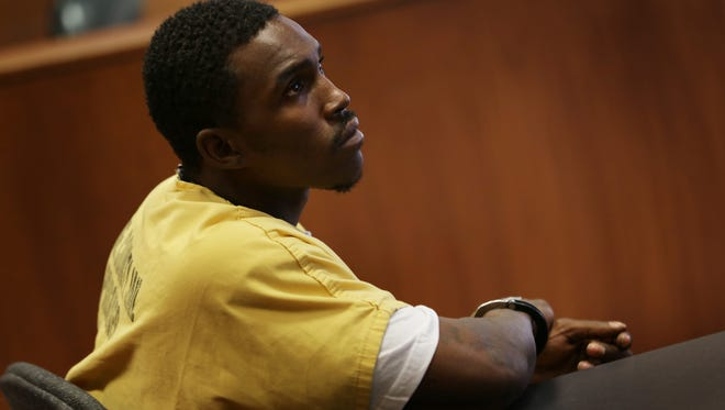Lorenzo Harris, accused of running over and killing two kids, injuring three appears in front of Wayne County Court Judge Shannon Holmes for a preliminary exam at Frank Murphy Hall of Justice in Detroit  on Monday, July 13, 2015.