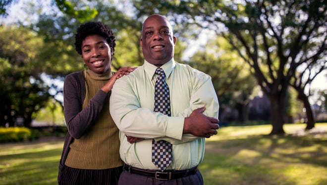 Abram Muhammad, right, and his daughter, Najla Muhammad, made history as the first father and daughter to graduate together from the JSU honors college.