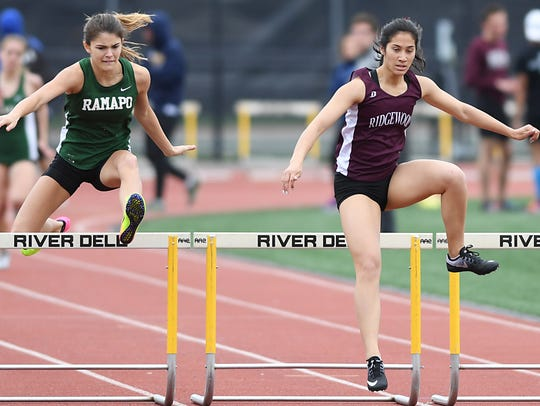 Katherine Muccio, of Ridgewood, right, qualified for