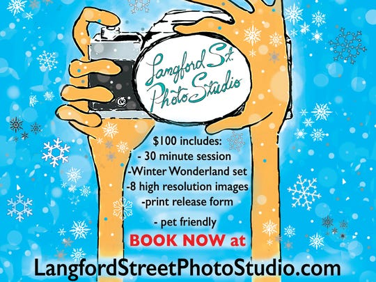 """The promo poster for the studio's """"Winter Wonderland"""" holiday photo special."""