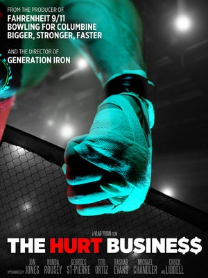 Poster for 'The Hurt Business' documentary.