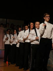 "Tipler Middle School's musical ""Pirates of Penzance Jr."" showcased a huge cast of pirates."