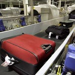 Checked luggage at the Oakland International Airport in June 2006.