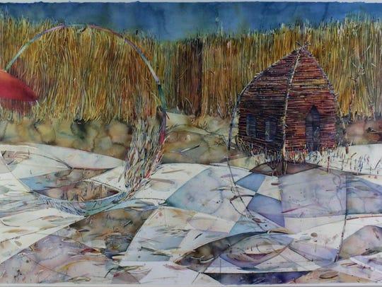 "Rob Erdle, ""Construction 85.1, ""1981, watercolor on"