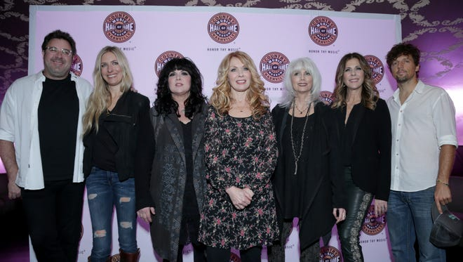 """Vince Gill, Holly Williams, Ann Wilson, Nancy Wilson, Emmylou Harris, Rita Wilson and Jason Mraz attend """"All For The Hall"""" 2014 benefiting The Country Music Hall of Fame and Museum at Club Nokia at L.A. Live in Los Angeles."""