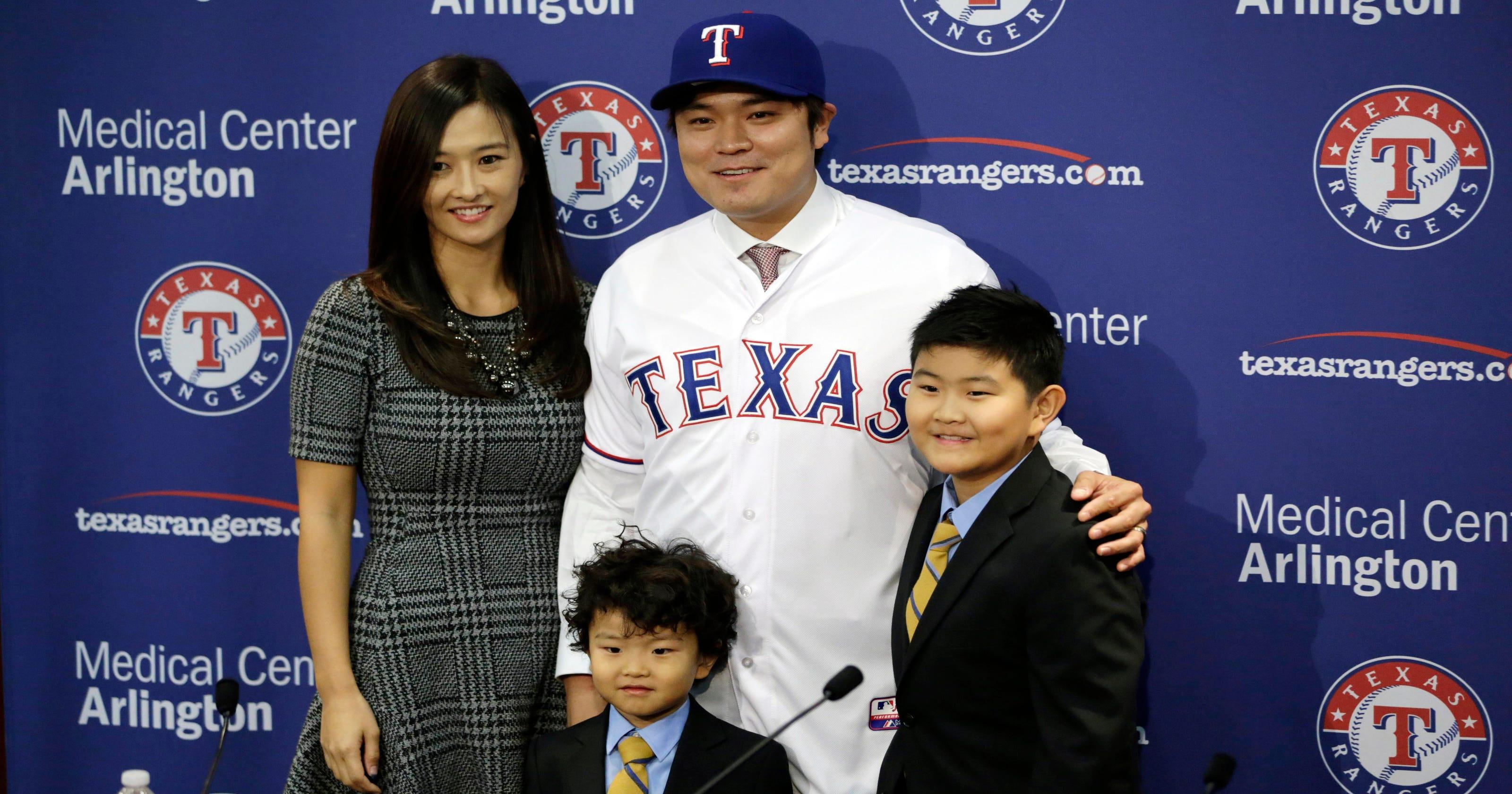 Shin Soo Choo Introduced By Texas Rangers