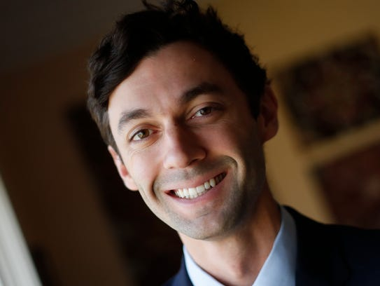 Democrat Jon Ossoff  is running for a Republican-held