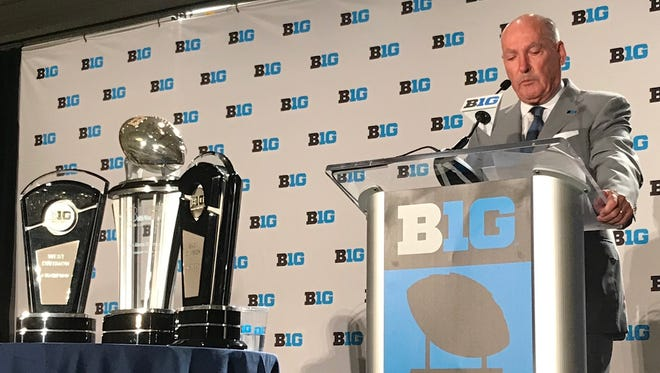 Jim Delany, in his 30th year as Big Ten commissioner, addresses the media during Monday's session of Big Ten Media Days in Chicago.