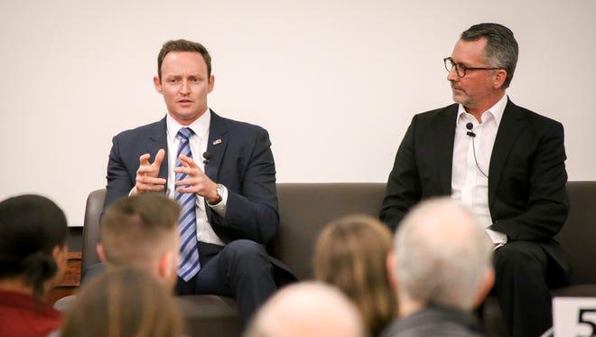 Former Congressmen Democrat Patrick Murphy (left) and Republican David Jolly (right) break down key issues in Washington, D.C.