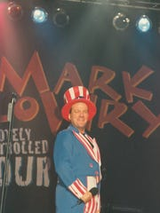 Mark Lowry in full campaign mode during his October 1996 visit to Abilene. Lowry appears Thursday at the Paramount Theatre.