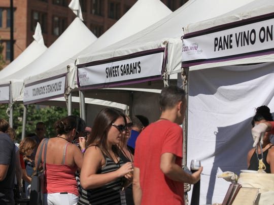 Vendors lined Cortland Street in September for the Food and Wine Experience.