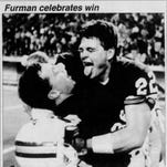 In 1988, Furman won national title in football