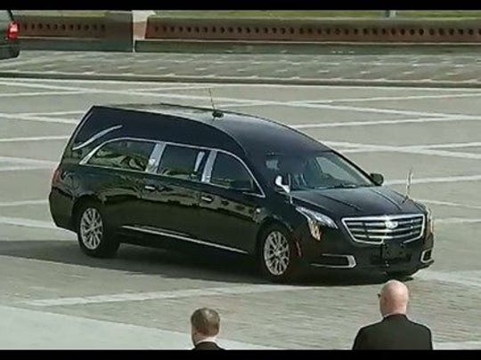Amelia's Eagle Coach provided the hearse for Billy Graham's casket at the U.S. Capitol