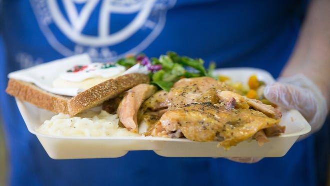 Food served at the St. Vincent de Paul dining hall in El Mirage,