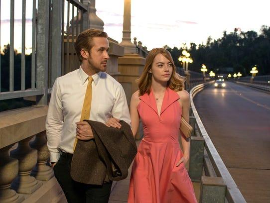 "Sebastian (Ryan Gosling) and Mia (Emma Stone) in ""La"