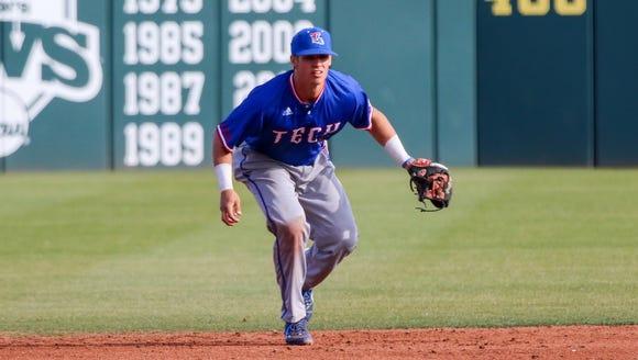Louisiana Tech shortstop Chandler Hall and the Bulldogs