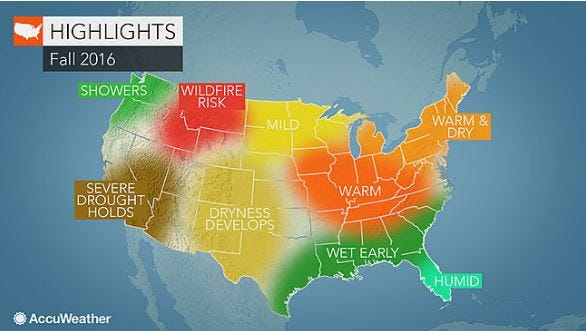 La Niña will keep things warm this fall according to the AccuWeather fall forecast.
