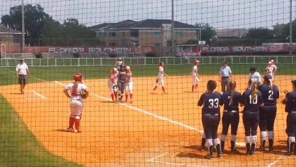 A softball game between Eckerd College and Florida Southern College ended one player's college career with an incredible act of sportsmanship.