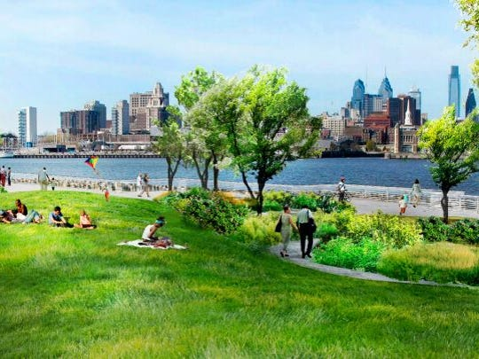 A proposed development in Camden's Waterfront will have a park along the Delaware River, according to a master plan.