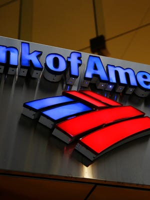 File photo taken in 2014 shows a Bank of America sign at a branch office in Philadelphia.