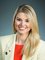 Ali FauntLeRoy, a Clemson graduate and former Miss South Carolina, is communications manager for the Fiesta Bowl, where Clemson will play Ohio State for a spot in the College Football Playoff national championship.