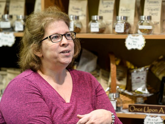 Pam Brightbill, co-owner of Timeless Cafe, 18 S. Eighth
