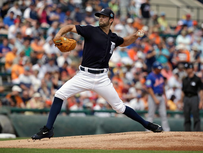 Detroit Tigers' Daniel Norris pitches against the New