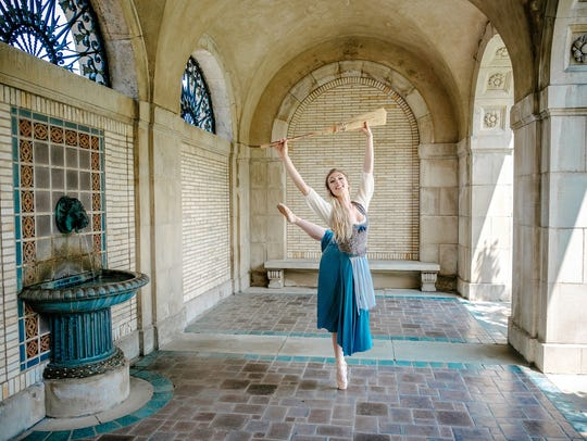 Rochester City Ballet will present Cinderella at Nazareth College's Callahan Theater from March 9 to 11. Megan Kamler, pictured, is one of two dancers who plays Cinderella.