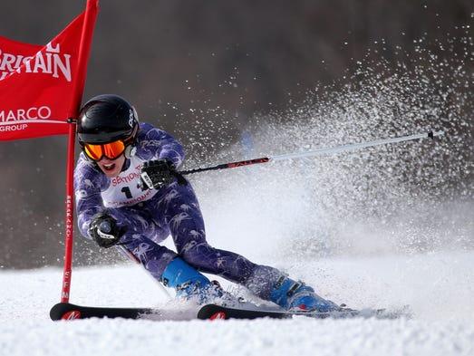 Beau Norris at Section V boys skiing at Bristol Mt.