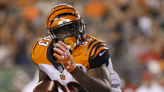 Cincinnati Bengals running back Tra Carson hopes to perform well enough to make an NFL roster in 2017.